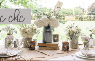 Decorazioni Shabby Chic all'aperto