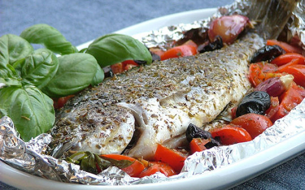 Branzino (or bass) Baked