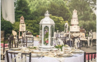 Wedding center Shabby Chic Lantern