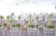Lilac wedding tables shabby