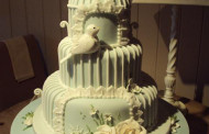 Shabby Chic Wedding cake shaped like a bird cage